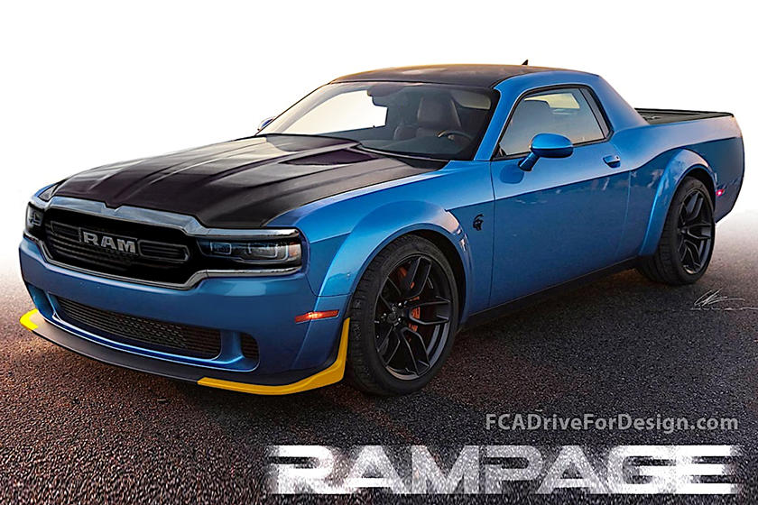 New Rampage Pickup Truck Rendered By Fca Muscle Cars Trucks