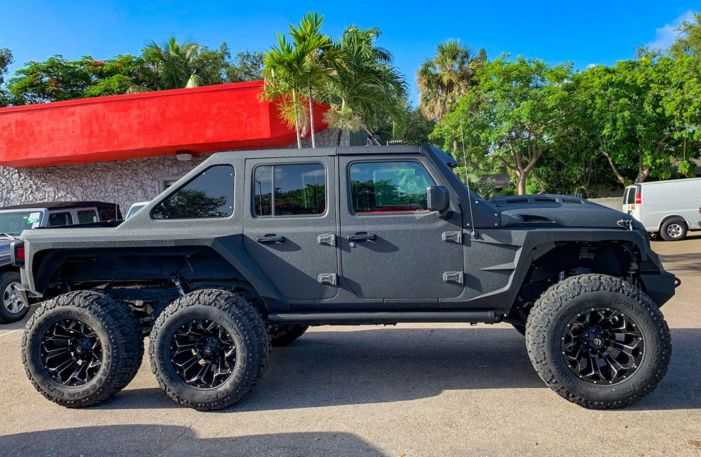 Jeep Gladiator 6x6 By Soflo Jeeps Stands Out From Other Six Wheelers